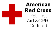 Red Cross Pet First Aid Certified Pet Sitter
